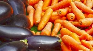 Inhoud van een groentebox en fruitbox