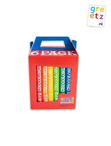Greetz tony chocolony 6 pack regenboog classics